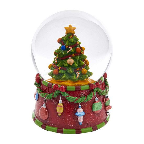 Kurt Adler 100mm Musical Christmas Tree Water Snow Globes