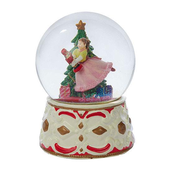 Kurt Adler 5.5-Inch Clara With Nutcracker Musical Water Snow Globes