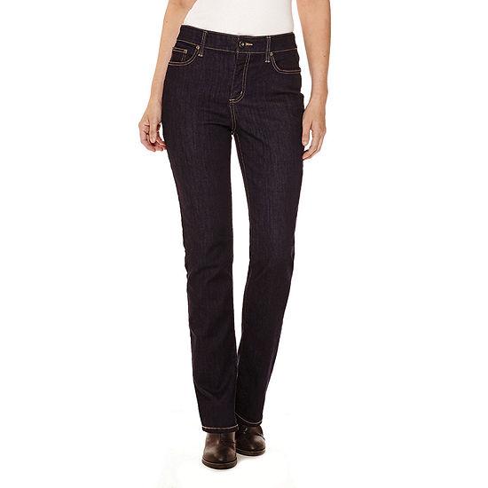 St. John's Bay® Secretly Slender Straight- Leg Jeans
