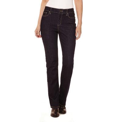 St. John's Bay Womens Mid Rise Straight Leg Jean