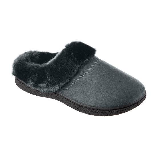 Isotoner Velour Hoodback Womens Clog Slippers