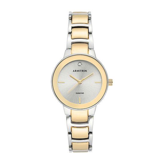 Armitron Womens Two Tone Bracelet Watch-75/5594svtt