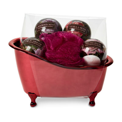 Tri-Coastal Design Burgundy Floral 6-pc. Bath Bombs