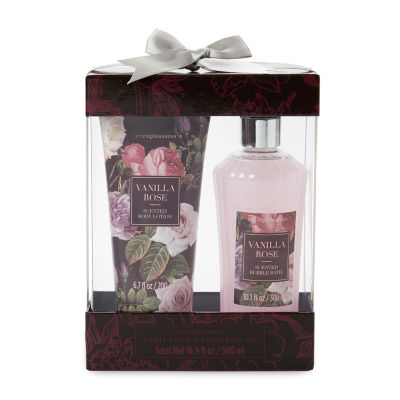 Tri-Coastal Design Burgundy Floral Bubble Bath Set