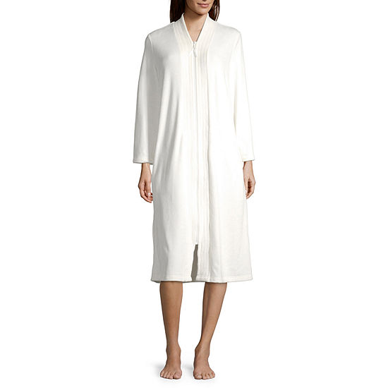 Adonna Womens Velour Robe Long Sleeve Long Length