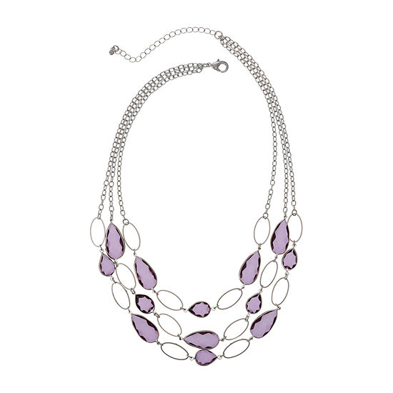 Mixit Purple 18 Inch Cable Beaded Necklace