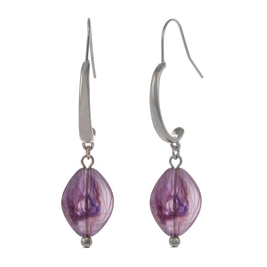 Mixit Purple Drop Earrings