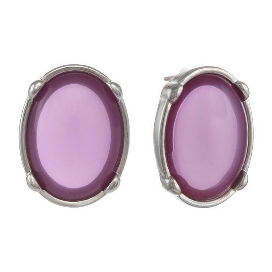 Mixit Purple 1 Inch Stud Earrings