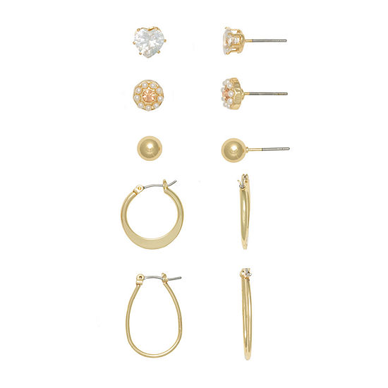 Mixit 5 Pair Earring Set