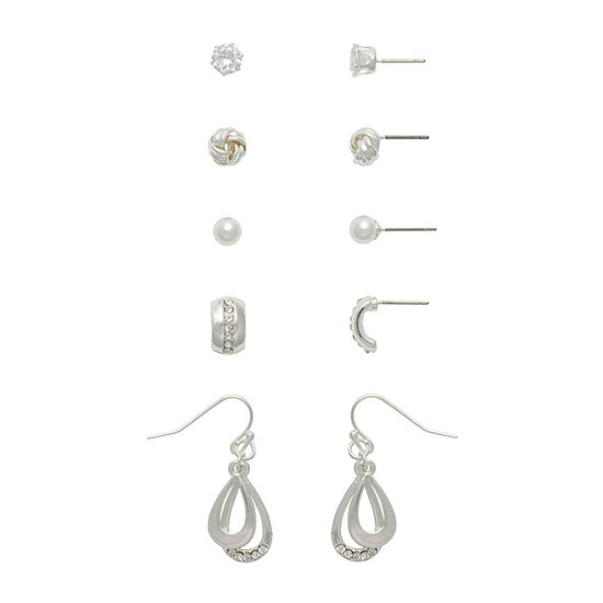 Mixit 5 Pair Knot Earring Set