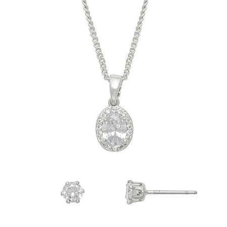 Mixit Hypoallergenic 2-pc. Jewelry Set, One Size , Gray