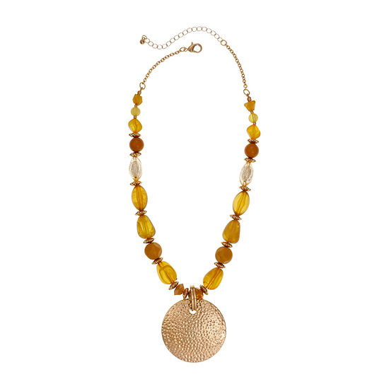 Mixit Mustard 18 Inch Beaded Necklace