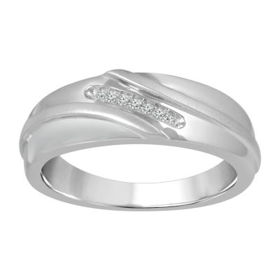 Men's Diamond Accent White Diamond 10K Gold Band