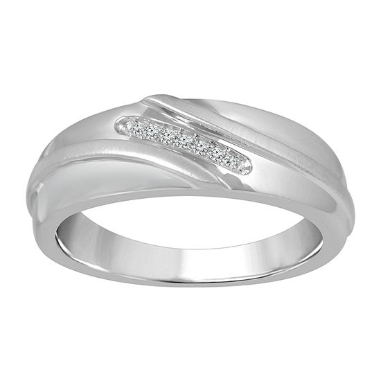 Men's Diamond Accent White Diamond 10K Gold Band