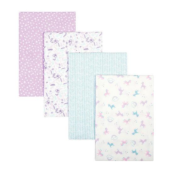 Trend Lab Unicorn 4-pc. Floral Blanket Girls