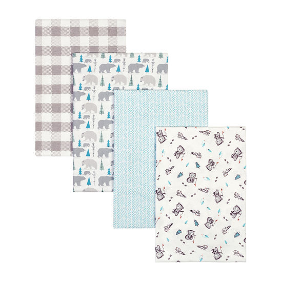 Trend Lab Bear 4-pc. Animal Blanket - Unisex