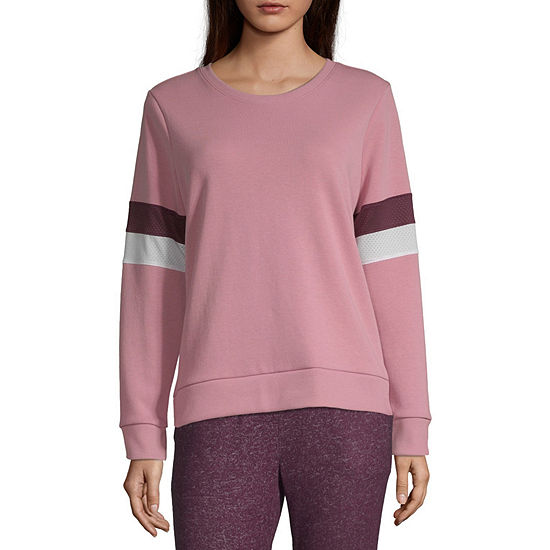 Xersion Womens Round Neck Long Sleeve Sweatshirt