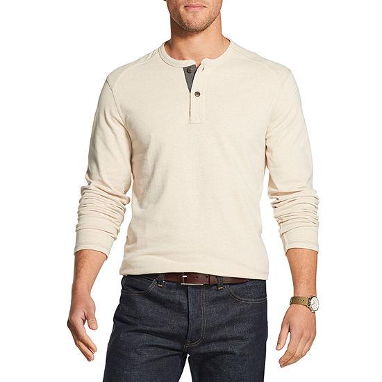 G.H. Bass & Co. Mens Long Sleeve Henley Shirt