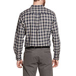 G.H. Bass & Co. Campside Dobby Mens Long Sleeve Plaid Button-Front Shirt