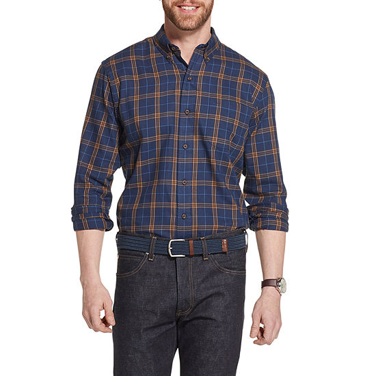 G.H. Bass & Co. Heritage Twill Mens Long Sleeve Plaid Button-Front Shirt