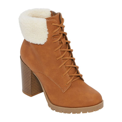 a.n.a Womens Redwood Lace Up Boots Block Heel