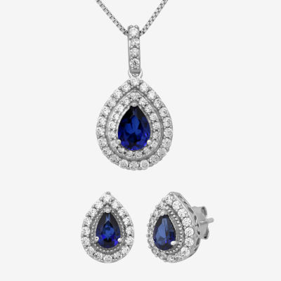 Lab Created Blue Sapphire Sterling Silver 2-pc. Jewelry Set