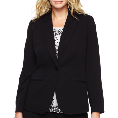 Liz Claiborne® One-Button Peak Label Blazer - Plus