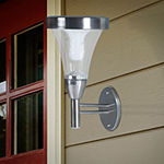 Pure Garden Set of 2 Solar Outdoor Mounted Lights