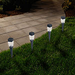 Pure Garden Set of 24 Solar Outdoor LED Modern Pathway Lights