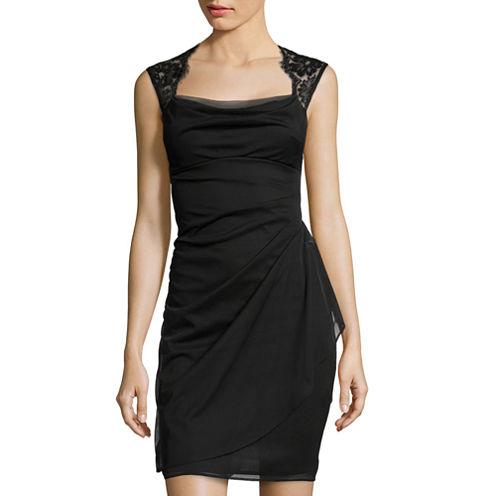 Scarlett Sleeveless Lace-Shoulder Dress
