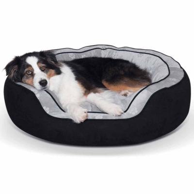 K & H Manufacturing Round N' Plush Bolster Pet Bed