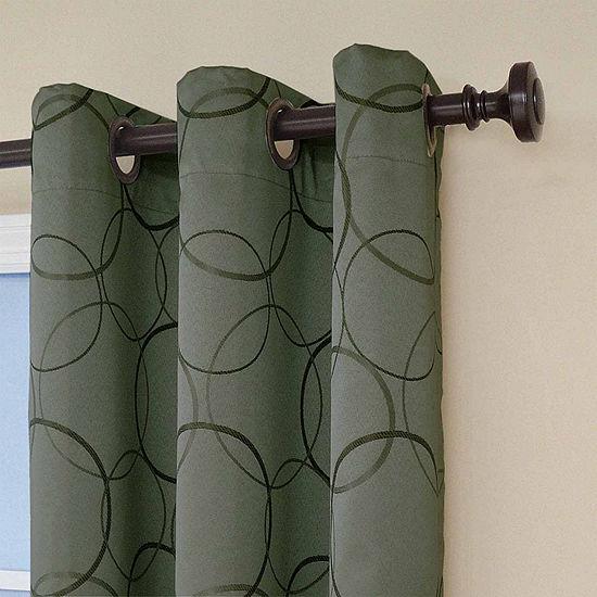 Eclipse Blackout Grommet-Top Single Curtain Panel