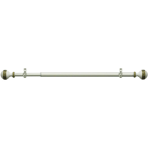 "Camino ¾"" Adjustable Curtain Rod with Embrace Finial"