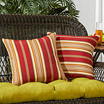 Greendale Home Fashions Square Stripe Outdoor Accent Pillows - Set of 2