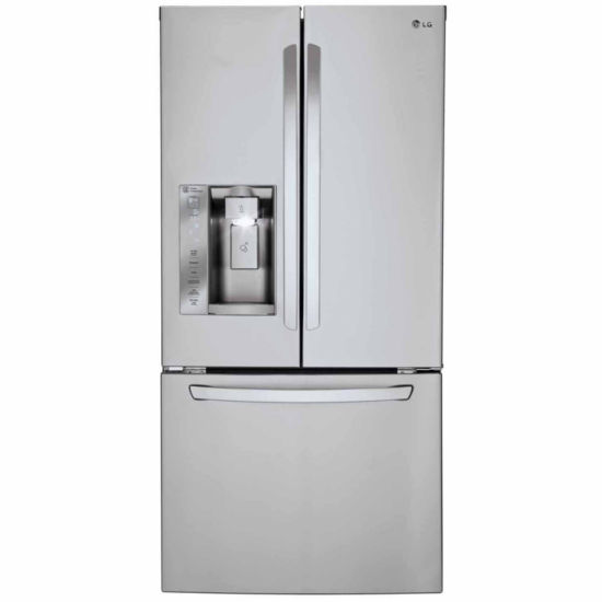 "LG ENERGY STAR® 24.2 cu. ft. 33"" Wide French Door Refrigerator with Ice and Water Dispenser"