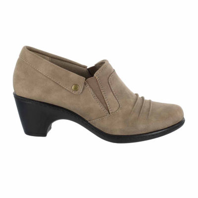 Easy Street Womens Bennett Shooties Elastic Round Toe