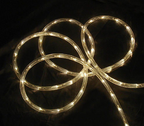 18' Warm Clear LED Indoor/Outdoor Patio ChristmasRope Lights