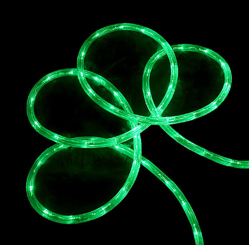 288' Commercial Grade Green LED Indoor/Outdoor Christmas Rope Lights On A Spool
