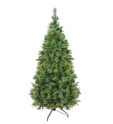 "9.5' x 67"" Pre-Lit Cashmere Mixed Pine ArtificialChristmas Tree with Clear Dura Lights"""