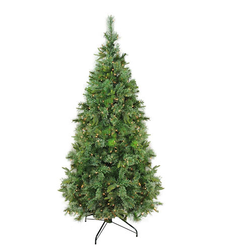 """9.5' x 67"""" Pre-Lit Cashmere Mixed Pine ArtificialChristmas Tree with Clear Dura Lights"""""""