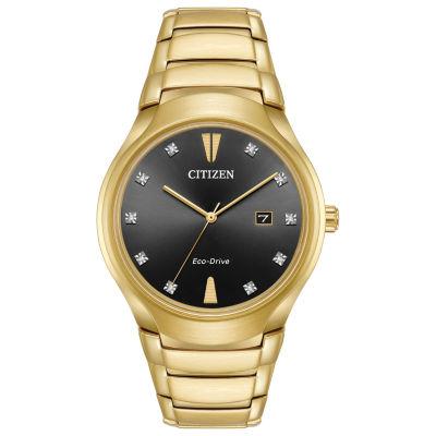 Citizen Mens Gold Tone Bracelet Watch-Aw1552-54e