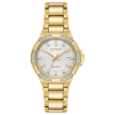 Citizen Womens Gold Tone Bracelet Watch-Ew2462-51a