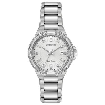 Citizen Womens Silver Tone Bracelet Watch-Ew2460-56a