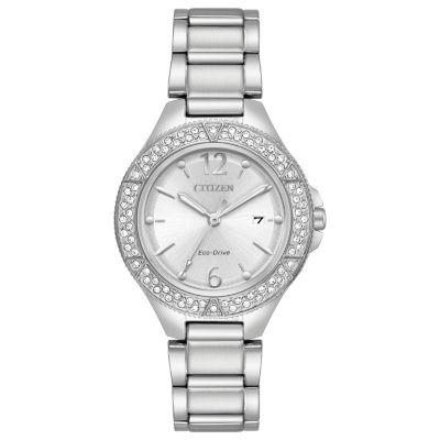 Citizen Womens Silver Tone Strap Watch-Fe1160-54a