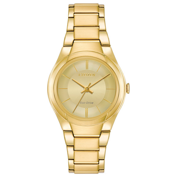 Citizen Womens Gold Tone Strap Watch-Fe2092-57p