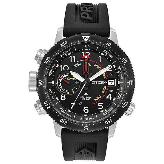 Citizen Promaster Altichron Mens Black Strap Watch-Bn5058-07e