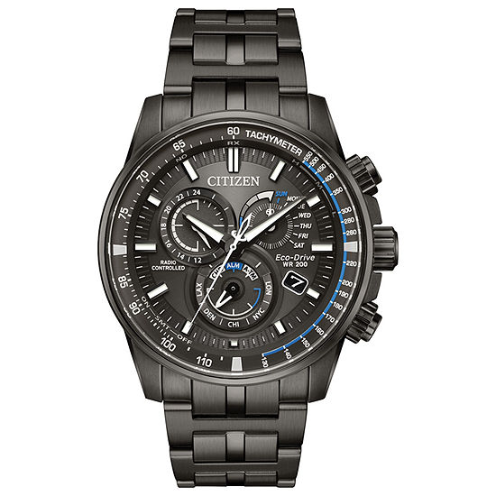 Citizen Pcat Mens Gray Stainless Steel Bracelet Watch-At4127-52h