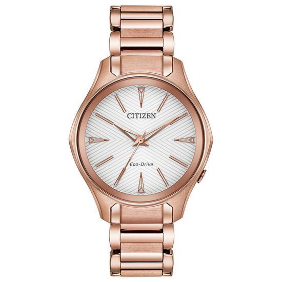 Citizen Womens Rose Goldtone Stainless Steel Bracelet Watch-Em0593-56a