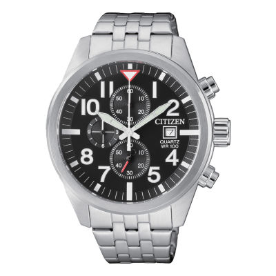 Citizen Quartz Mens Silver Tone Bracelet Watch-An3620-51e