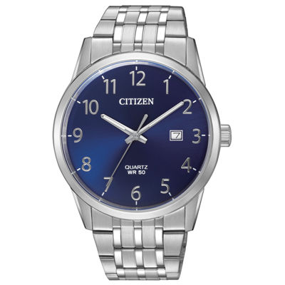 Citizen Quartz Mens Silver Tone Bracelet Watch-Bi5000-52l